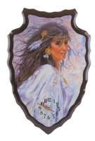 Indian Girl Arrowhead Clock Wall Clock 28398