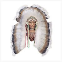 Indian Bust with Feather Headdress 28407