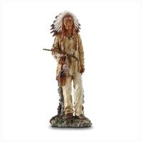 Native American Chief with Pipe 32332