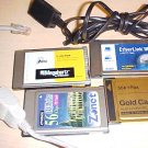Zonet Fax Interface Card Modem lot of 4 gold etherlink