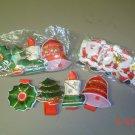 napkin rings christmas seasonal lot of 12 new