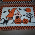 halloween tapestry placemats lot of 4 very cute haunted house ghosts