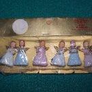 vintage plastic angels SCCO co NIB for crafts christmas tree cake decorating