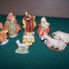 nativity figures porcelain lot of figures