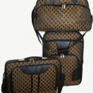 FLEUR DI LIS UPRIGHT DUFFEL LAPTOP 3 PIECE TRAVEL LUGGAGE SET