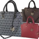 Designer Milan Embossed Printed Handbag Tassel Emblem Purse Red Black Brown