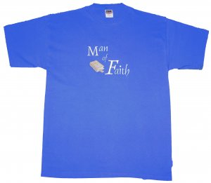 2XL Royal Blue &quot;Man of Faith&quot; T-Shirt