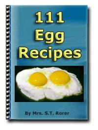 111 Egg Recipes Cookbook Ebook