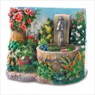 Floral Fantasy Mini-Fountain