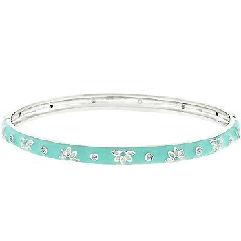 Icy Flower Bangle Bracelet