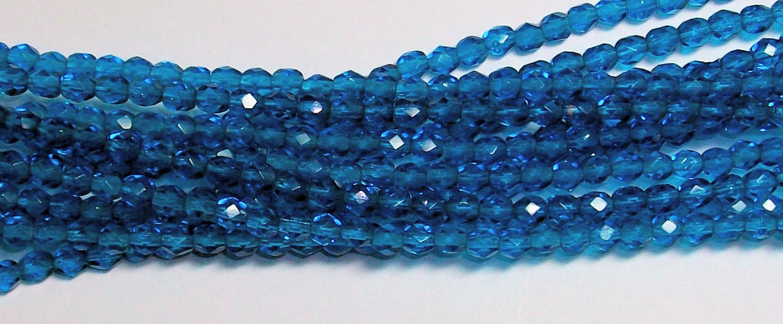 Blue Zircon Firepolish 4mm