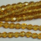 Medium Topaz Czech Firepolish 4mm