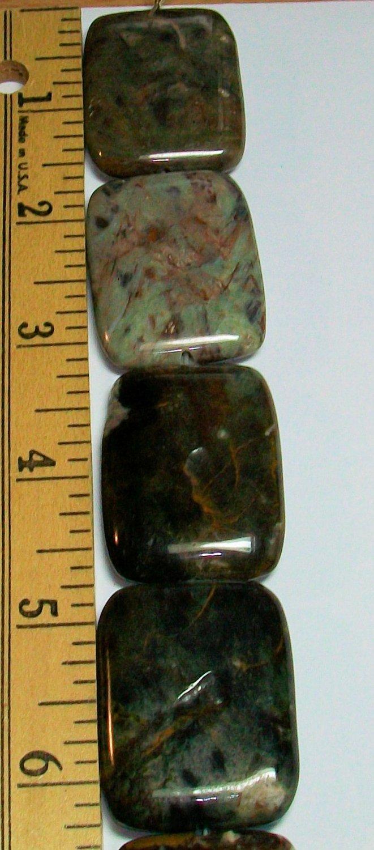 Green Opal Rectangles