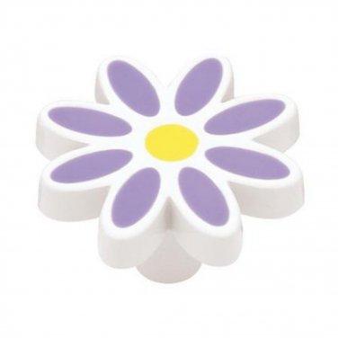 Liberty Hardware Daisy Drawer Knob/Pull-Purple/Lavender-NEW NIP