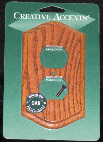 Amerelle-Creative Accents Country Oak Single Outlet Cover-NEW! NIP