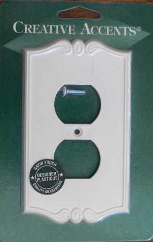 Amerelle-Creative Accents Decorative Single Outlet Cover-Charleston White