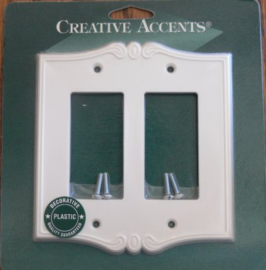 Amerelle-Creative Accents Composite Double Rocker Wall Plate-Charleston White