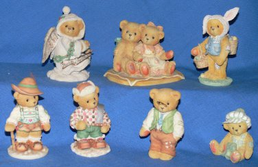 Lot of 7 CHERISHED TEDDIES Collectible Figurines-Christmas Stormi-Some Bunny Peter and MORE!