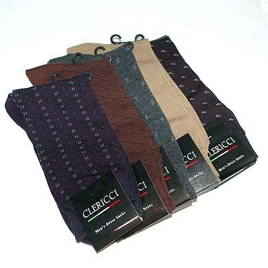 Men's Clericci Assorted Dress Socks 12 pairs
