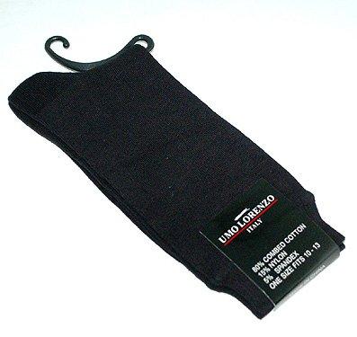 Mens Clericci Black Dress Socks (1/pair)
