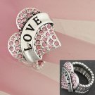 Stretchy With Pink Rhinestone Ring