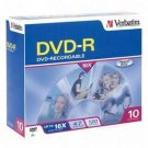 Verbatim DVD-R 16X 4.7GB 95099 (10/Pack)