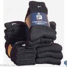 Men's FILA Athletic Black with White F logo Crew Socks, 3 pair