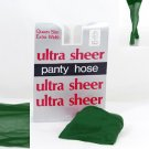 Kelly Green Ultra Sheer Queen Size Pantyhose 723Q