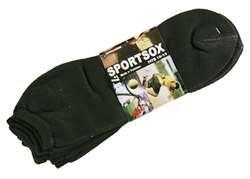 Mens Black Low Cut Sport Socks 3 Pack New