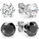 Cubic Zirconia Stud Earrings 2-Pack NEW