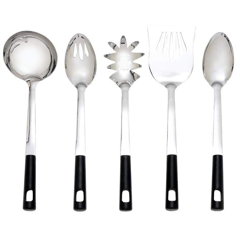Chefmaster 5pc Jumbo Kitchen Tool Set Features Stainless Steel