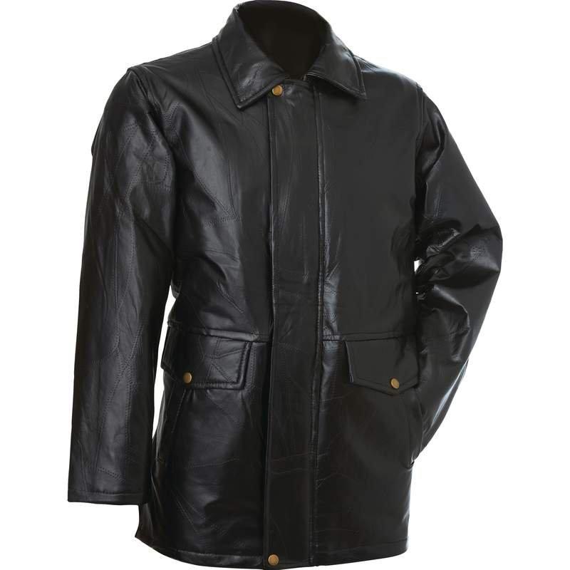 Giovanni Navarre Italian Stone Design Leather Jacket - Size L