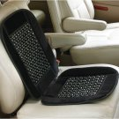 Maxam Velour/Beaded Seat Cushion with Elastic Strap for Most Seats