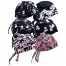 Diamond Plate 6pc Assorted Pattern Washable Cotton Skull Cap Set