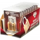 Diamond Plate 10pc Brass Combination Luggage Locks in Display Box