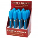 Chef's Secret 12pc Coated Non-Slip Tongs in Countertop Display