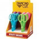Diamond Cut 12pc Utility Shears with Stainless Steel Blades RED TAG SALES