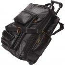 Embassy Italian Stone Design Black Leather Trolley Bag/Backpack