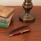 Alex Navarre Rosewood Twist Action Executive Pen with Brass Clip
