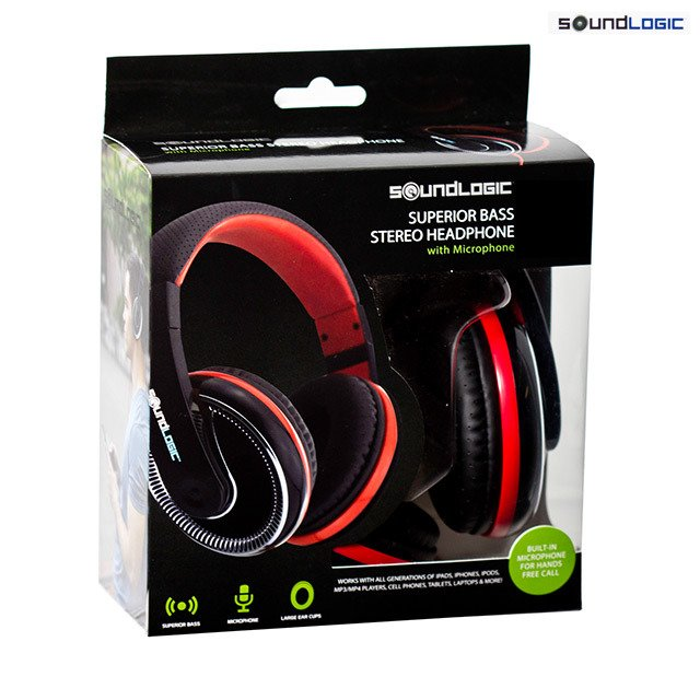 Superior Bass Stereo Headphone W / Mic