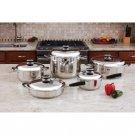 "HealthSmart™ 10pc 12-Element ""Waterless"" Cookware Set New"