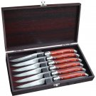 Slitzer Germany® 7pc European-Style Steak Knife Set in Wood Box