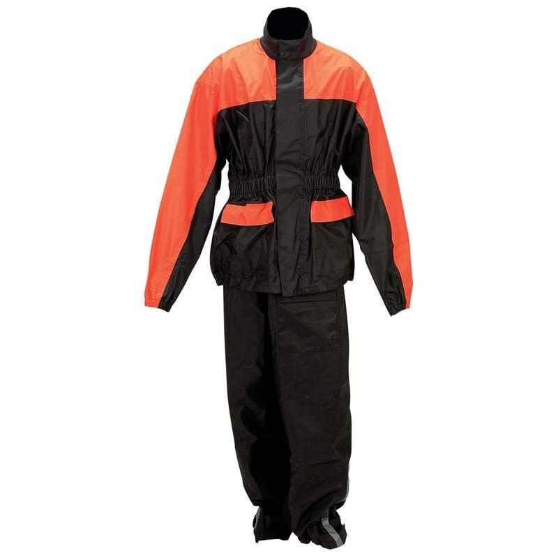 Diamond Plate� Motorcycle Rain Suit Includes - S/M