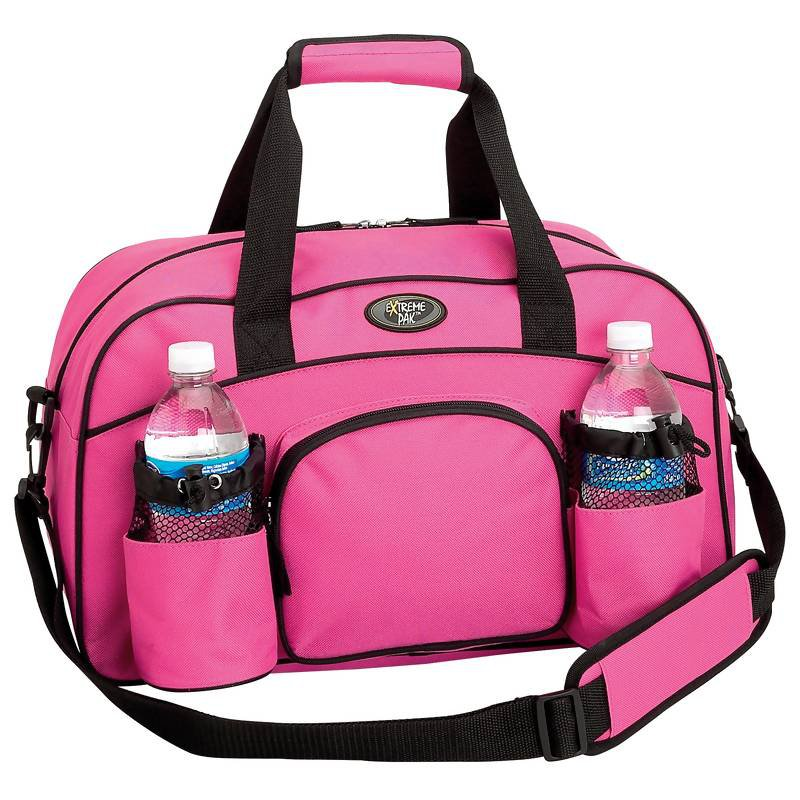 "Extreme Pak Pink 18"" Sport Duffle Bag Made Of Durable 600D Nylon"