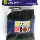 Boys Sport Sox  Black Tube Socks 9-11