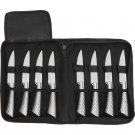 Slitzer 9pc Professional Stainless Steel Steak Knife Set