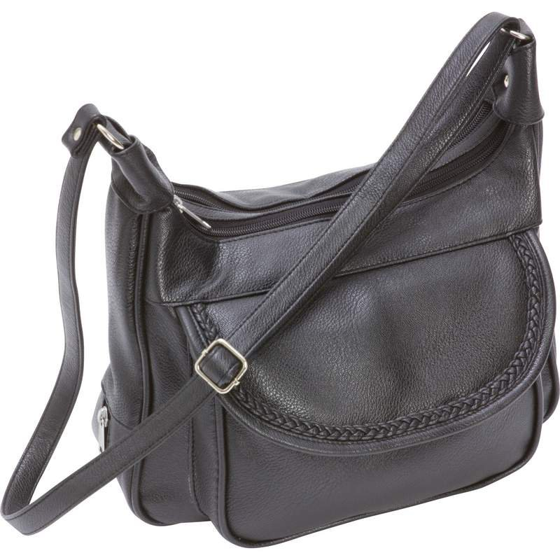 Faux Leather Purse with Multiple Interior and Exterior Pockets