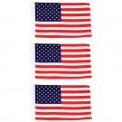 "3pc 100% Polyester Motorcycle Replacement 6"" x 9"" USA Flags"