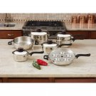 7-Ply Steam Control 17pc T304 Stainless Steel Cookware Set New