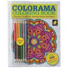 Colorama Adult Coloring Book with Bonus Color Pencil Set New